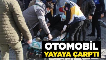 Samsun'da otomobil yayaya çarptı!