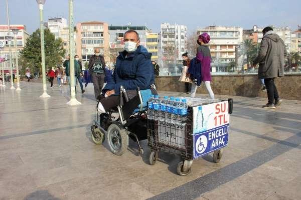 Su satarak protez parası biriktiriyordu, şimdi yürümek için gün sayıyor