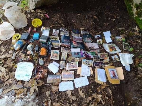 Siirt'te teröristlere ait mühimmat, örgütsel doküman ve yaşam malzemesi ele geçi