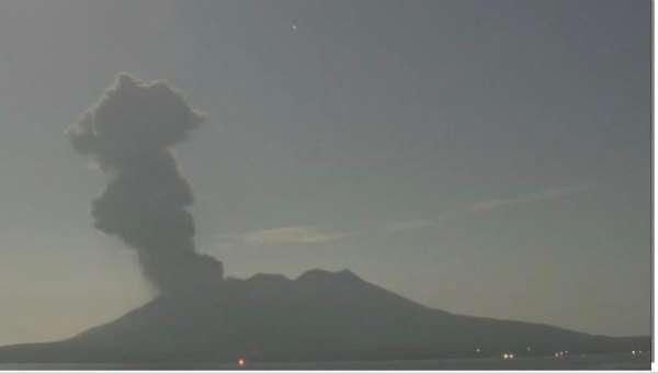 Japonyada Sakurajima Yanardağında patlama