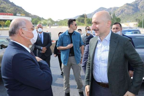 Bakan Karaismailoğlu, Amasya Çevre Yolu şantiyesinde incelemelerde bulundu