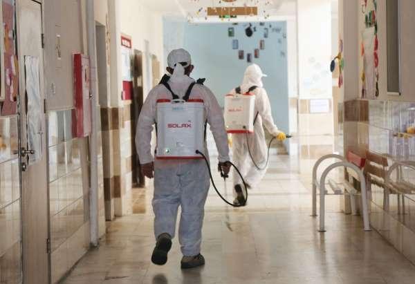 Atakum Belediyesi YKS öncesi kentteki okulları dezenfekte etti