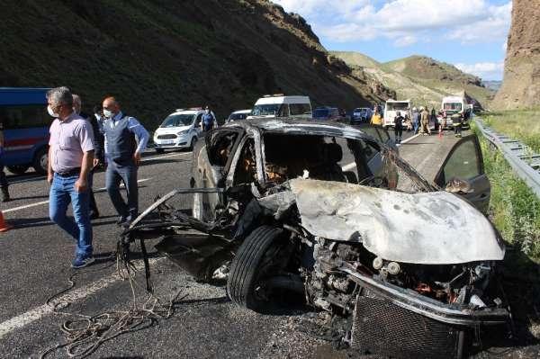 Erzurum'da feci kaza: 2 ölü, 3 yaralı