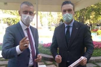 Manisasporlu yöneticiler Ankara'da temaslarda bulundu