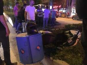Motosikletlerin kazasında 2 kişi yaralı