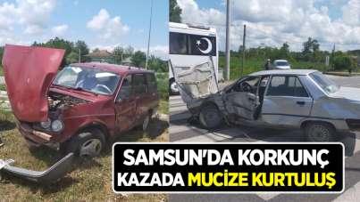 Samsun'da korkunç kazada mucize kurtuluş