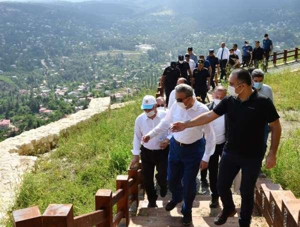 Vali Su, Çamlıyayla'nın turizm alanlarında incelemelerde bulundu