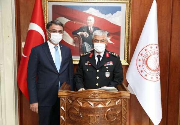Jandarma Genel Komutanı Orgeneral Çetin, Tokatta temaslarda bulundu