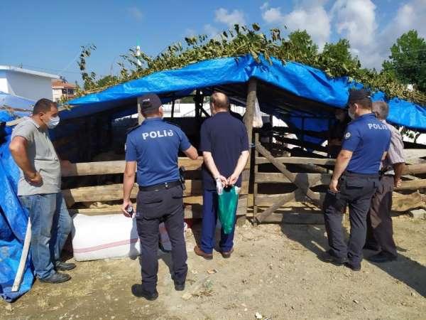 Alaçam polisi hayvan pazarında uyarılarda bulundu