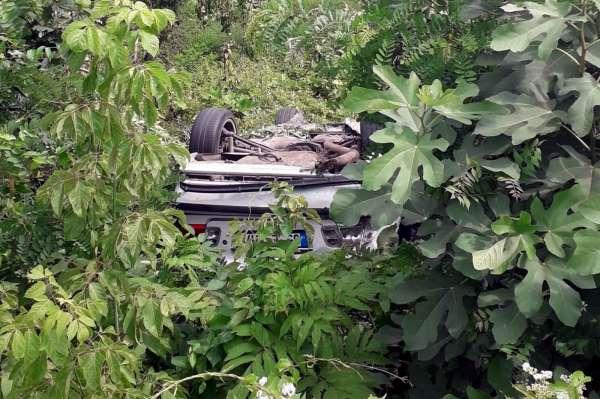 Samsunda otomobil takla attı: 1 yaralı