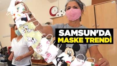 Samsun'da maske trendi