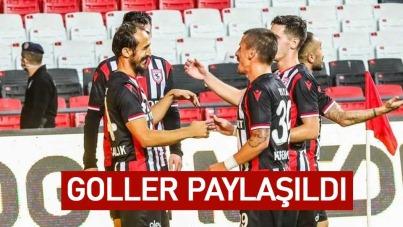 Samsunspor'da Goller Paylaşıldı