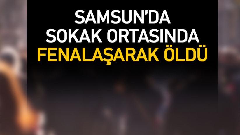 Samsun'da sokakta yere yığılan genç öldü