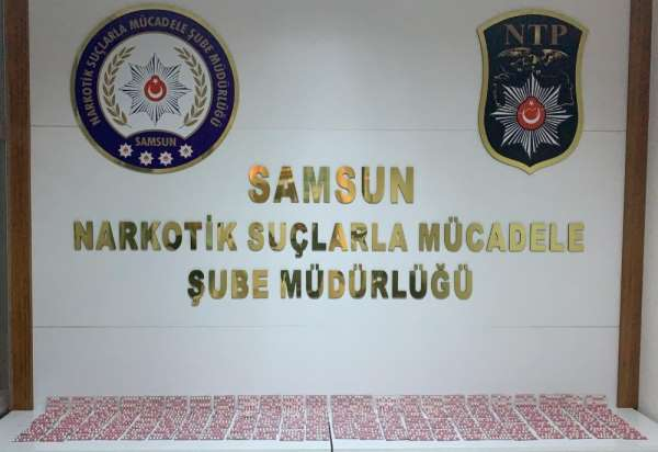 Samsun'da 2 bin 345 adet uyuşturucu hap ele geçirildi: 3 gözaltı