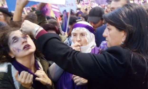 Kadına Şiddet Protestosunda Gerginlik
