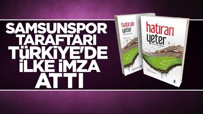 Samsunspor taraftarı Türkiye'de ilke imza attı