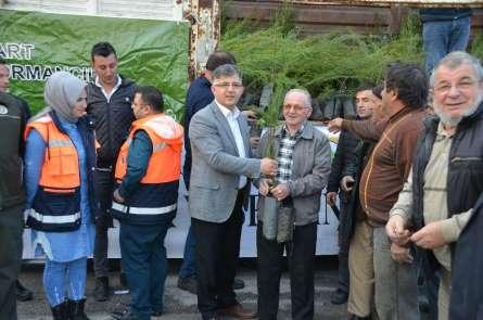 Kargı'da 4 bin fidan dağıtıldı