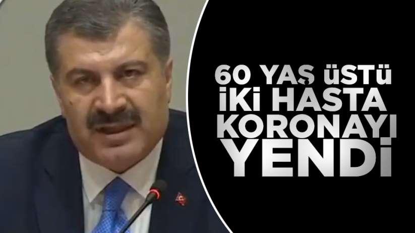 Türkiye'de 2 hasta korona virüsü yendi
