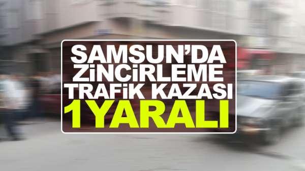 Samsun'da zincirleme Trafik Kazası