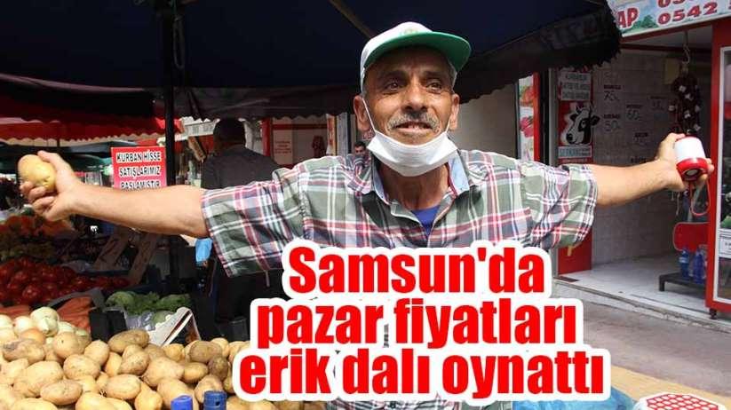 Samsun'da pazar fiyatları erik dalı oynattı
