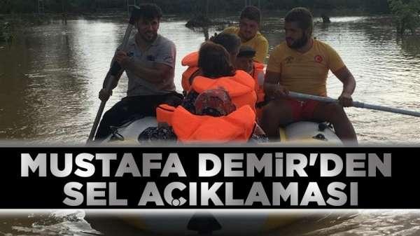 Mustafa Demir'den sel açıklaması