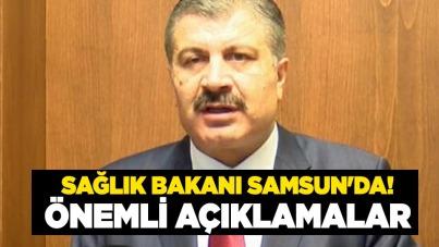 Bakan Fahrettin Koca Samsun'da! Önemli açıklamalar