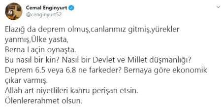 MHP Ordu Milletvekili Enginyurt'tan Berna Laçin'ne tepki