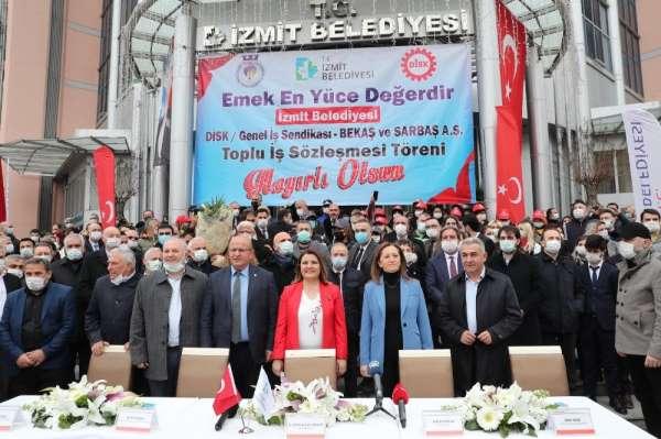 İzmit Belediyesi işçilerine 1 Mayıs ikramiyesi