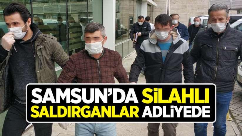 Samsun'da silahlı saldırganlar adliyede