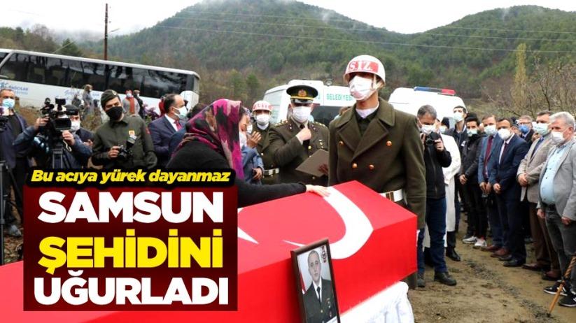 Samsunlu şehit Aygün Çakar, son yolculuğuna uğurlandı