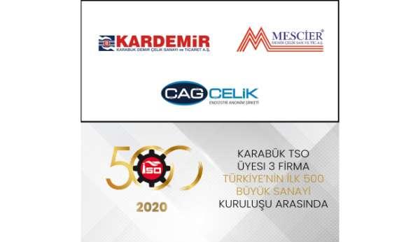 Karabük TSO üyesi 3 firma ilk 500de