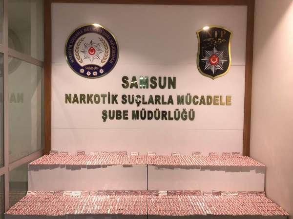 Samsunda 7 bin 252 adet uyuşturucu hap ele geçirildi: 4 gözaltı