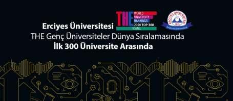 ERÜ, THE Genç Üniversiteler dünya sıralamasında ilk 300 üniversite arasında