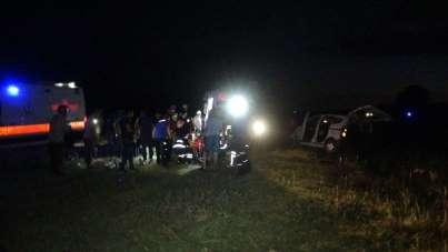 Aynı aileden 7 kişinin yaralandığı kazada, çocukların feryatları yürekleri dağla
