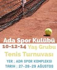 Çaycuma Ada Spor Kompleksinde tenis turnuvası heyecanı