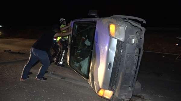 Kırıkkale'de kaza yapan sürücü aracını bırakıp kaçtı