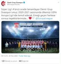 Sivasspor'dan UEFA paylaşımı