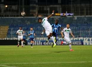 TFF 1. Lig Play-Off Yarı Final: Adana Demirspor: 0 - Bursaspor: 0 (İlk yarı sonu