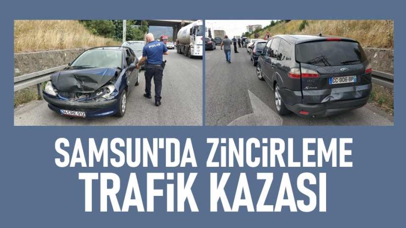 Samsunda 5 aracın karıştığı zincirleme kaza