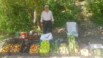 Hakkari-Şırnak karayolu üzerinde sebze tezgahları kuruldu