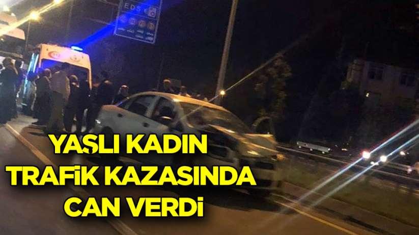 Samsun-Ordu Karayolu'nda yaşlı kadın trafik kazasında can verdi