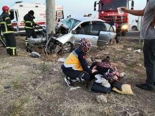 Aksaray'daki sıkışmalı kazada ekipler zamanla yarıştı