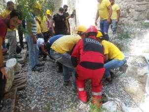 Bodrum Kalesi'nde vinç kazası: 1'i ağır 2 işçi yaralı