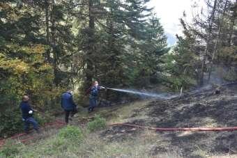 Boyabat'ta çıkan orman yangını kontrol altına alındı