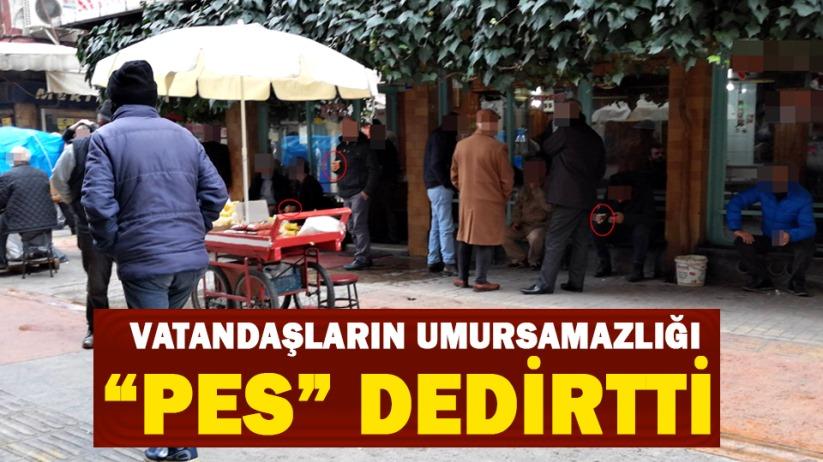Samsun'da vatandaşların umursamazlığı 'pes' dedirtti