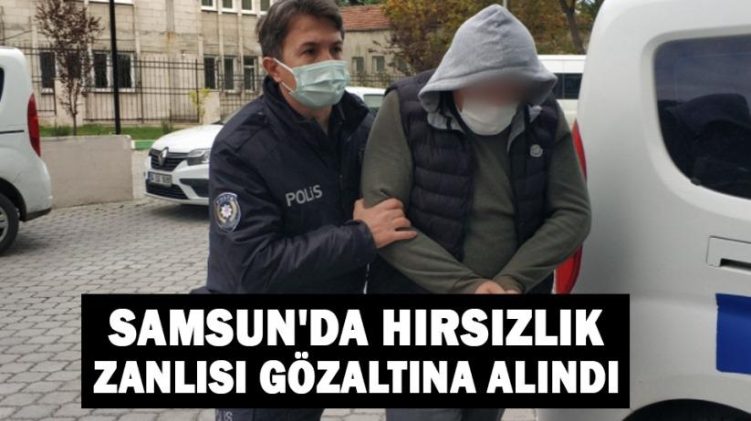 Samsun'da hırsızlık zanlısı gözaltına alındı