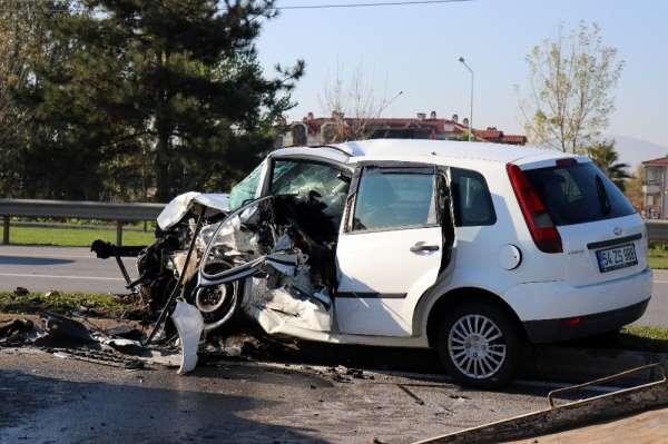 Duble yolda meydana gelen kazada ilginç detay: Kazadan birkaç dakika önce radara