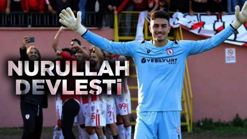 Samsunspor BAK Spor maçında Nurullah devleşti