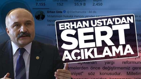 Erhan Ustadan Yargı Reformuna ilişkin açıklama