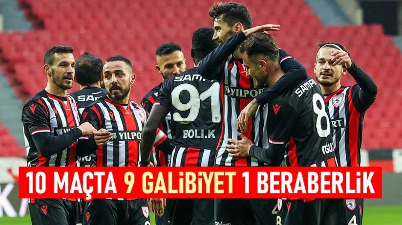 Samsunspor 10 maçta 9 galibiyet 1 beraberlik aldı